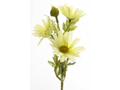 Umělá květina - Kopretina žluto-zelená