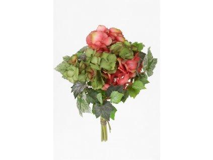 Umělá květina - Hortenzie s břečťanem