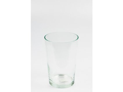 Váza skleněná čirá 25 cm
