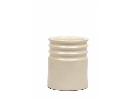 Váza krémová