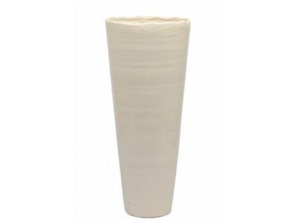 Váza krémová vysoká