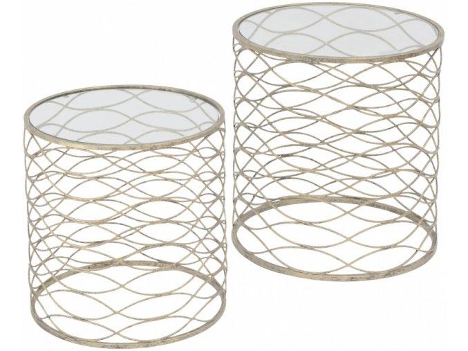 Gatsby - větší odkládací stolek se sklem