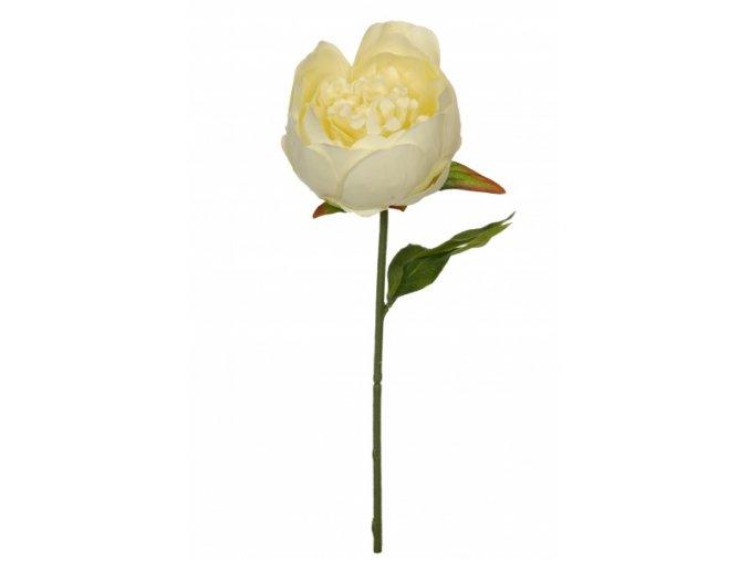 Umělá květina - Pivoňka bílá jeden květ