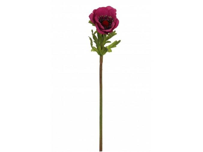 Umělá květina - Sasanka tmavě růžová