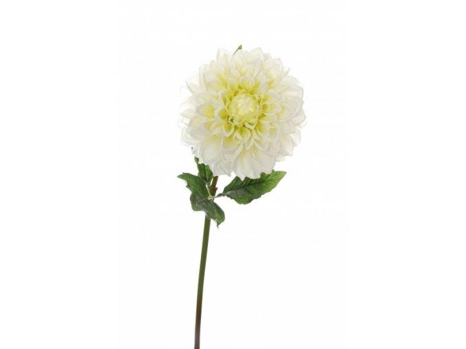 Umělá květina - Jiřina bílá