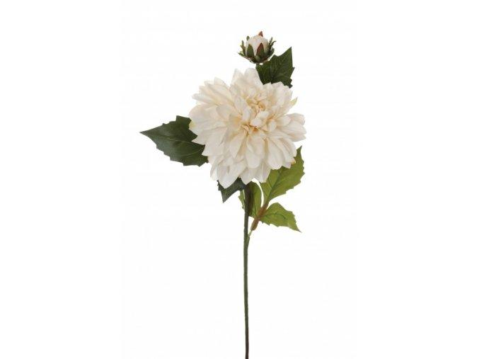 Umělá květina - Jiřina w/ bílá