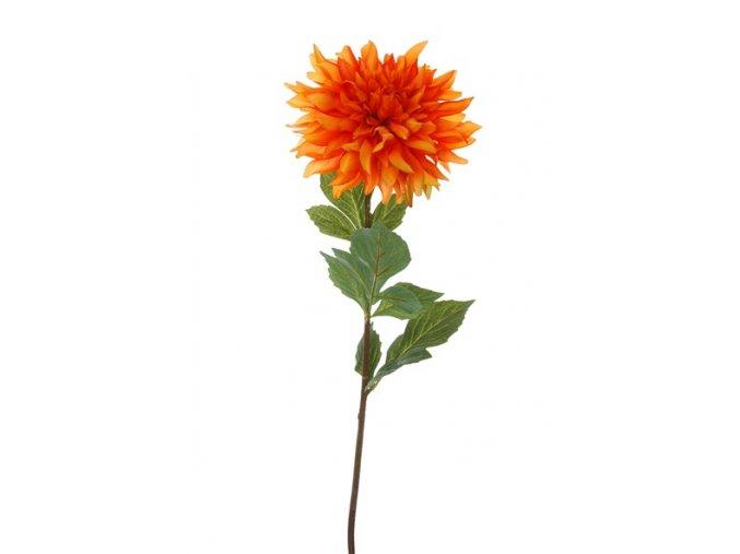 Umělá květina - Jiřina oranžová