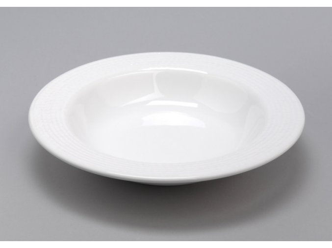 Talíř polévkový bílý