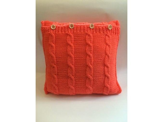 Polštář pletený oranžový