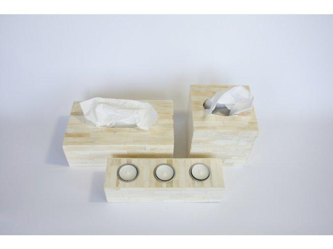 Krabice na kapesníčky bílá podlouhlá