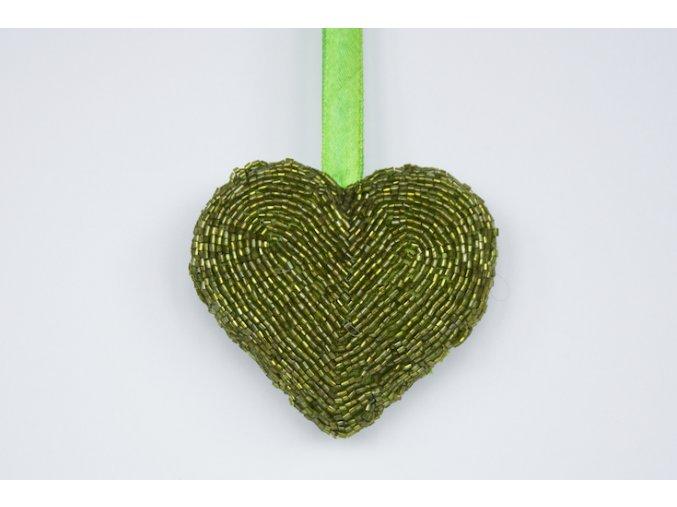 Ozdoba, Srdíčko zelené korálkové