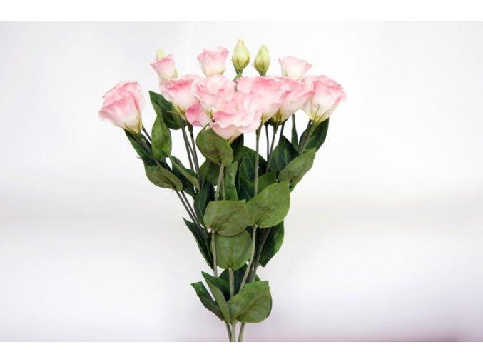 Umělá květina - Lisianthus růžový