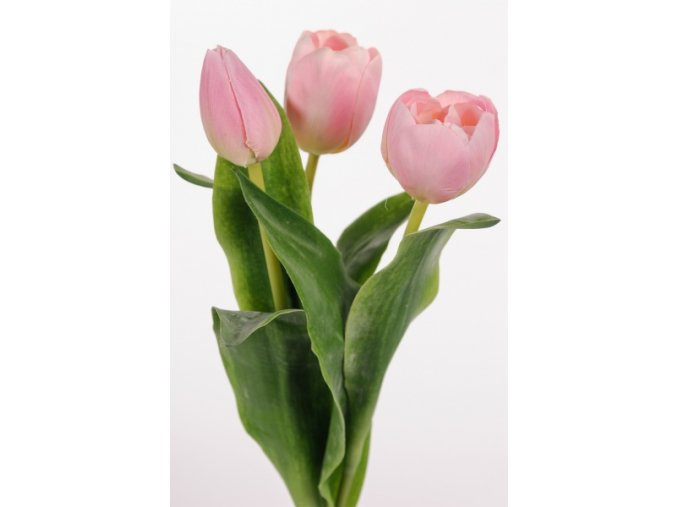 Umělá květina - Tulipán narůžovělý mix