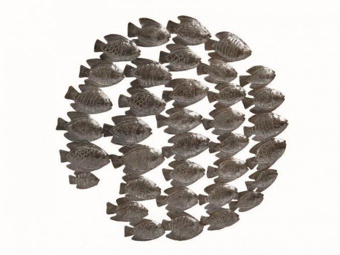 Dekorace na zed´-Plastika rybí hejno 60cm