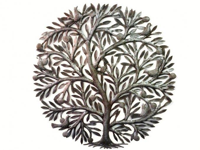 Dekorace na zeď - plastika ovocný strom života III. 85cm