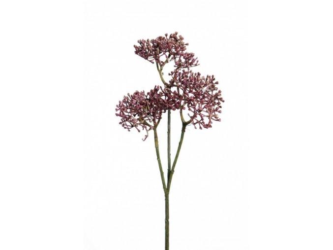 Umělá květina - Větvička fialová