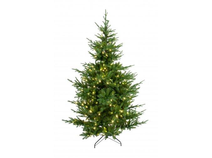 umela-dekorace-vanocni-stromecek-verde--jedlicka-se-svetylky-210-cm