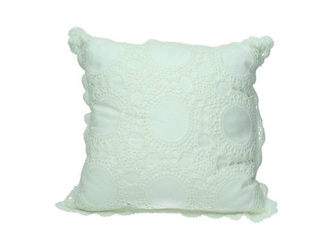Polštář bílý krajkový