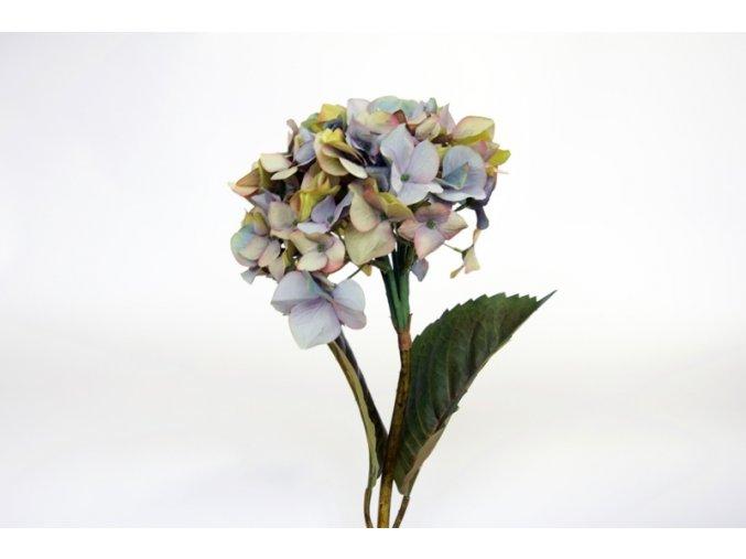 Umělá květina - Hortenzie fialková