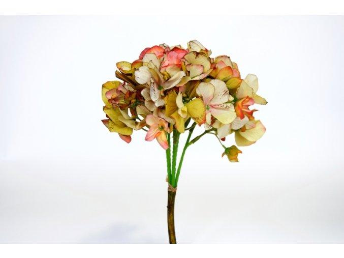 Umělá květina - Hortenzie oranžová