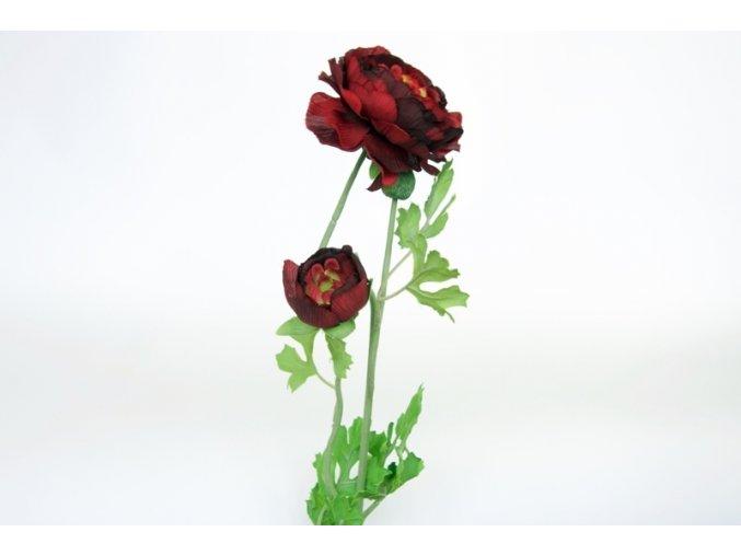 Umělá květina - Pryskyřník bordo