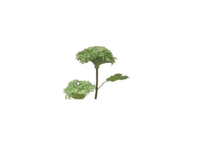 Umělá květina - Hortenzie malá zelená