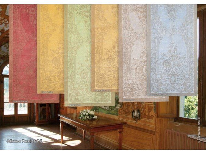 Běhoun na stůl lněný 50x180, zelenohnědá barva