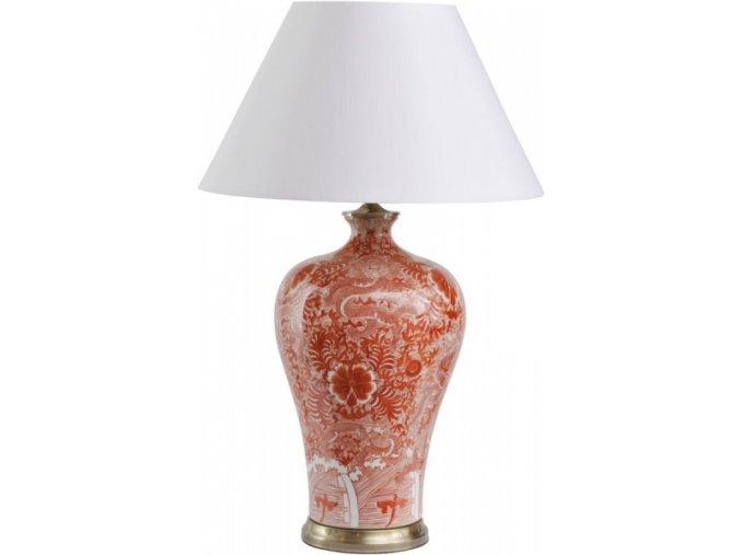 Stolní lampa červená, orient