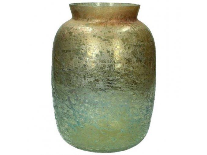 Váza zlatozelená 18x18x26