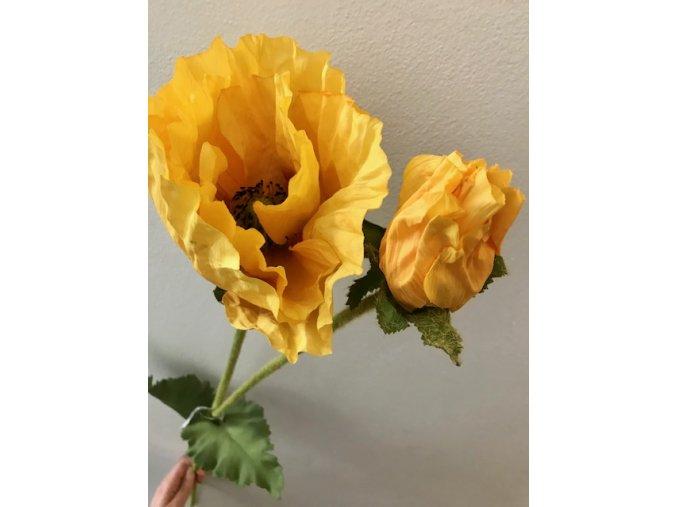 umela-kvetina-vlci-mak-zluty-90cm