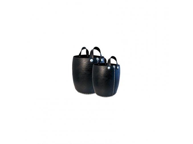 Koš z recyklovaných pneumatik s uchy, velikost L