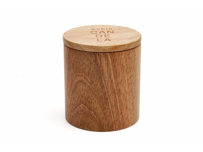 Vonná svíčka ze sójového vosku Munio Candela s víčkem ve dřevě