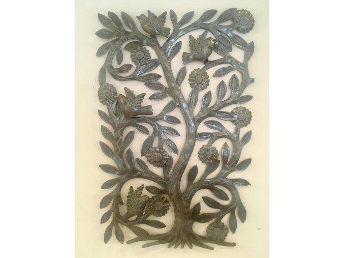 Dekorace na zeď - plastika strom života 30x43cm
