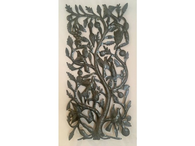 Dekorace na zeď - plastika strom života 36x75cm