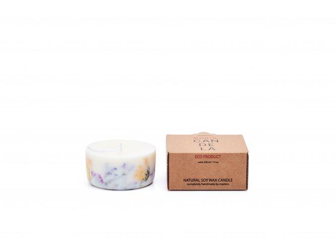 Vonná svíčka ze sójového vosku Munio Candela mini 220ml růže