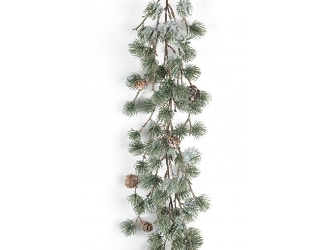 umela-dekorace-girlanda-zasnezeny-modrin-170-cm