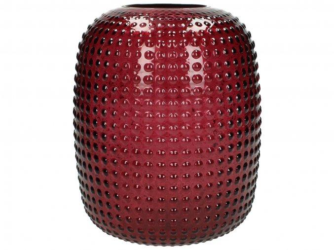 Váza skleněná Burgundy oválná