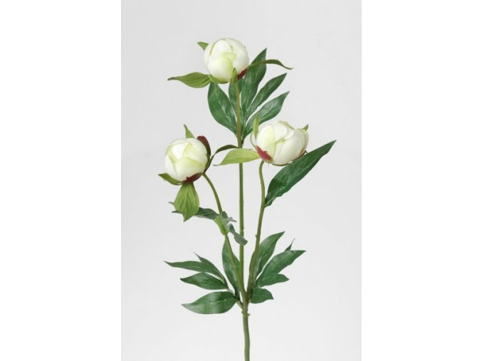Umělá květina - Pivoňka bílá poupata