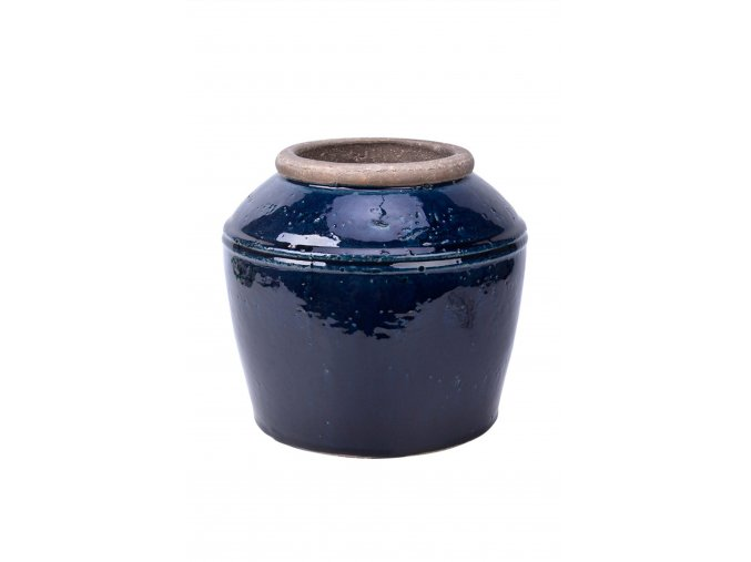 vaza-antik-tmave-modra-glazurovana