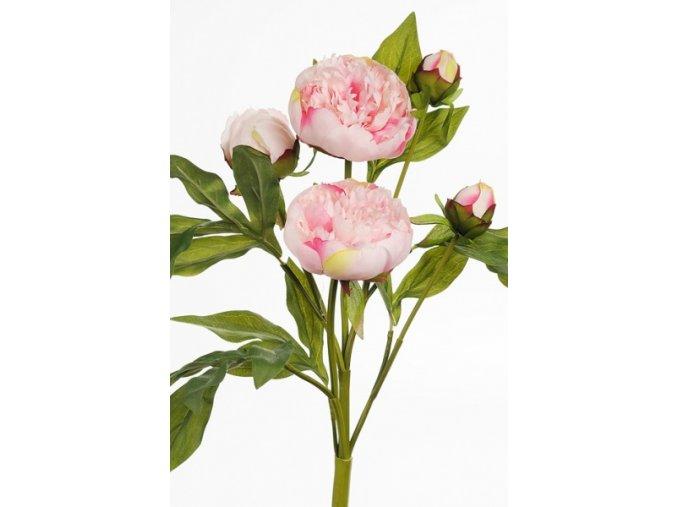 umela-kvetina-pivonka-ruzova-svazek-37cm