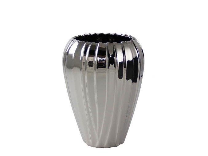 Váza Vedura ve stříbrném lesku