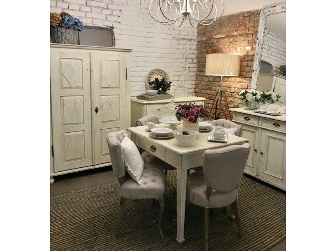 Stůl bílý jídelní v Provence stylu