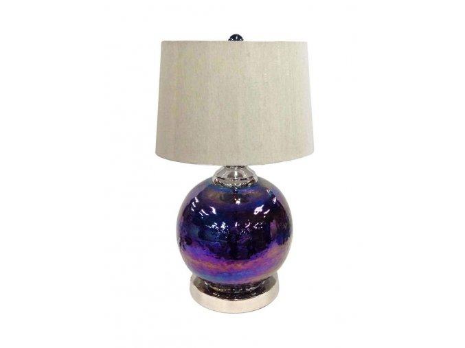 Lampa stolní modrozelená