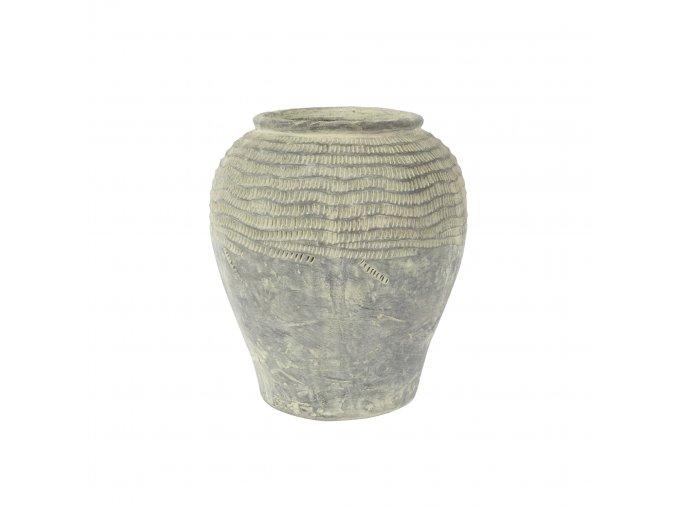 Váza kameninová Marchelle s ozdobným reliéfem