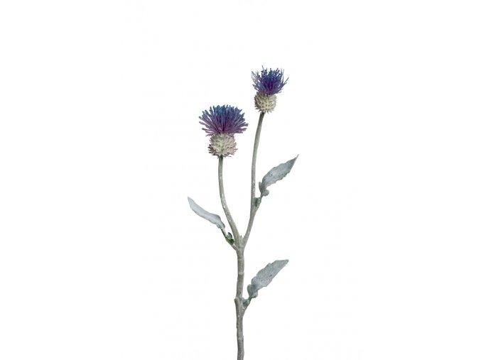 Umělá květina - Bodlák fialovomodrý