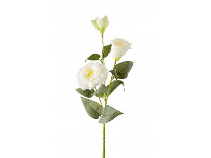 Umělá květina - Eustoma jícnovka bílá