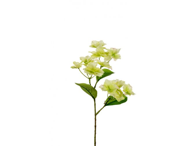 Umělá květina - Hortenzie světle zelené květy