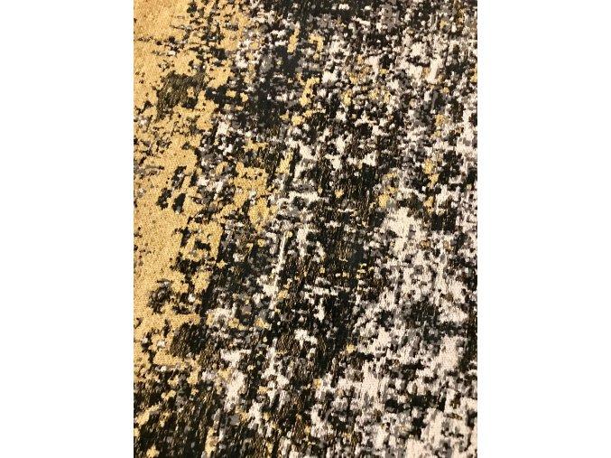 Koberec Cristiana 300x200 černo-zlatý