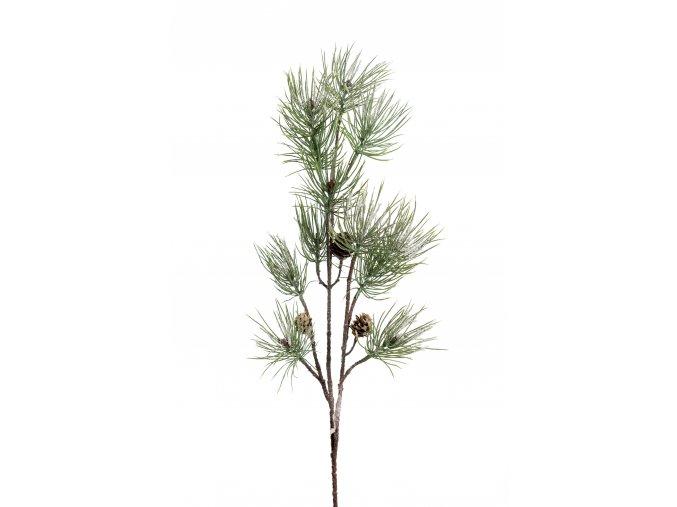 umela-dekorace-zasnezena-vetvicka-borovice