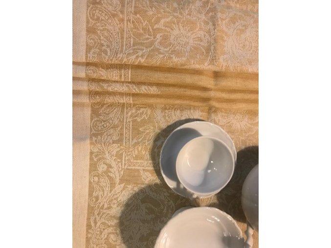 Běhoun na stůl lněný 50x210, hořčicová barva